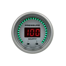 """AutoMeter Products 6752-UL Gauge, Pressure, 2 1/16"""", Two Channel, Selectable, Ultra-Lite Elite Digital"""