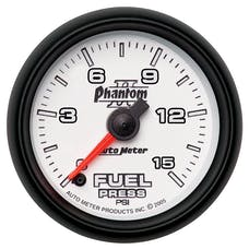 AutoMeter Products 7561 2-1/16in Full Sweep Fuel Pressure 0-15 PSI  Phantom ll