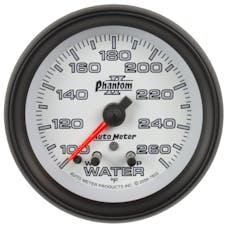 AutoMeter Products 7855 Gauge; Water Temp; 2 1/16in.; 260deg.F; Stepper Motor w/Peak/Warn; Phantom II