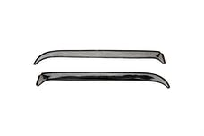 AVS 12175 Ventshade Deflector - 2 Pc Set Stainless