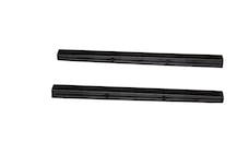 AVS 88130 Stepshield Door Sill Protector Black 2 pc. Custom Front