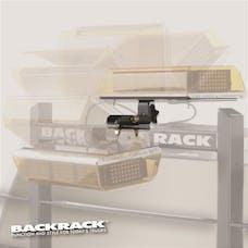 """BACKRACK 91002RECF Light Bracket 16"""" x 7"""" Base, Center Mount Folding"""