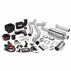 Banks Power 46037 Six-Gun Bundle, Power System with Single Exit Exhaust, Chrome Tip