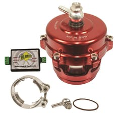 BD Diesel Performance 1047251SR Turbo Guard Kit-Dodge 1994-1998 12-valve Steel Adapter/Red Valve