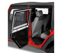 Bestop 51806-17 Jeep Wrangler JKU Element Upper Fabric Half Doors