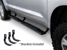 "Big Country Truck Accessories 395030870 5"" WIDESIDER Platinum Side Bars Kit: 87"" Long Text Black coat + Brackets"