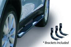"""Big Country Truck Accessories 394171716 4"""" WIDESIDER Platinum Side Bars Kit - 71"""" Long Stainless + Mounting Brackets"""