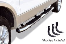 "Big Country Truck Accessories 395203808 5"" WIDESIDER XL Composite Side Bars Kit - Chrome + Mounting Brackets (Gas Only)"