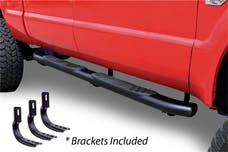 "Big Country Truck Accessories 395101871 5"" WIDESIDER XL Side Bars Kit - 87"" Long Black + Mounting Brackets"