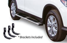 "Big Country Truck Accessories 395286676 5"" WIDESIDER Platinum Side Bars Kit: 67"" Long Polished Stainless Steel +Brackets"