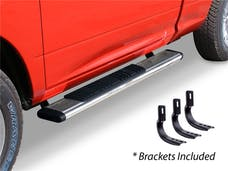 "Big Country Truck Accessories 395169526 5"" WIDESIDER Platinum Side Bars Kit: 52"" Long Polished Stainless Steel +Brackets"
