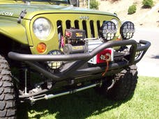 Body Armor JK-1951 Tubular Front Bumper with Grill Guard for Jeep JK