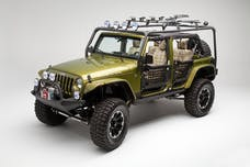 Body Armor JK-6124-1 Roof Rack base box 1; contains uprights and hardware. Used with JK-6124-2/JK-612
