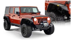 Bushwacker 10918-07 Flat Style Jeep Fender Flares, 4pc