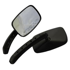 Cipa 01945 Motorcycle Black Small Rectangle Mirror Kit (Left and Right Side) Universal
