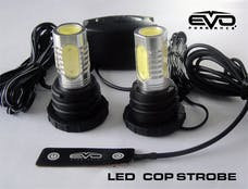 Cipa 93191 EVO Formance LED Cop Headlight Strobes - Blue.