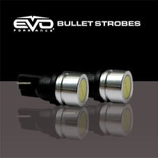 Cipa 93196 EVO Formance Bullet Strobe - 1 Watt T-10 LED Strobe Bulbs - Red/Blue