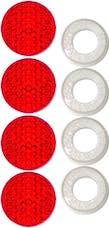 Cruiser Accessories 82226 Red Reflector II Fastener Caps (4pc)