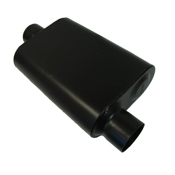 CSI Accessories 43041 Welded Chambered Muffler; 3.00in. IN (O)/OUT ( C )