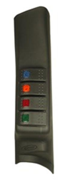 Daystar KJ71044BK A-Pillar Switch Pod; Black (Includes 4 Switches)