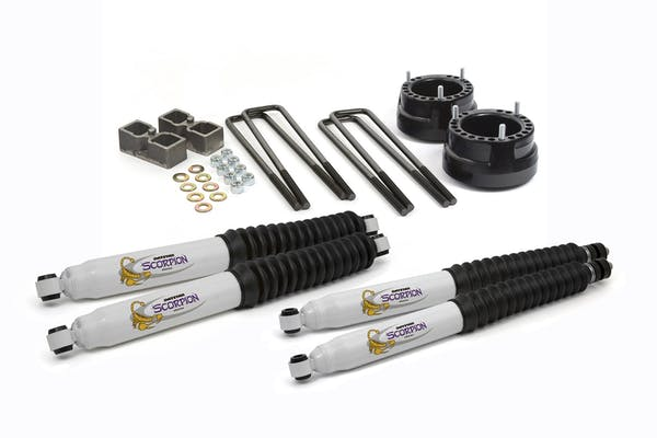 "Daystar KC09123BK Suspension Lift Kit; 2"" Front Coil Spring Spacers; 2"" Rear Blocks w/ U-bolts"