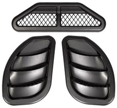 Daystar KJ71301BK Hood Vents; Side; Right & Left; Black; Pair Center Cowl Vent; Black
