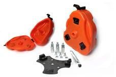 Daystar KT71001OR 07-14 FJ Cruiser Cam Can Trail Box Orange W/ Toyota Tire Mount