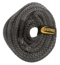 "Daystar KU10203BK 3/4"" X 25'  Black Rope, Loop Ends with Nylon Recovery Rope Bag"