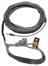 """Daystar KU10404BK 3/8"""" X 80' Black Winch Line with Shackle End"""