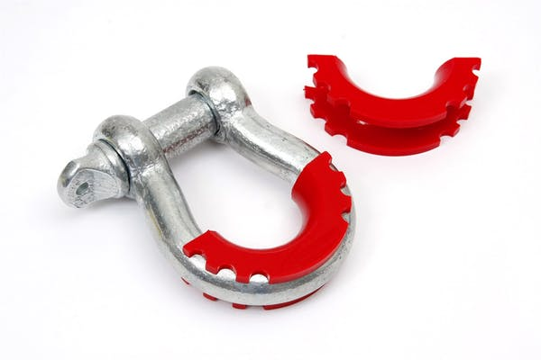 Daystar KU70056RE D-Ring / Shackle Isolator; Red; Pair