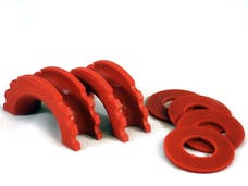 Daystar KU70057RE D-Ring Isolator And Washers; Red