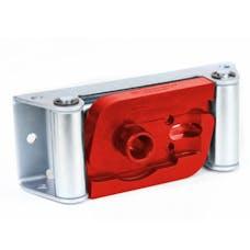 Daystar KU71121RE Winch Isolator, Roller Fairlead, Red