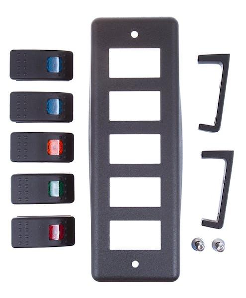 Daystar KU72004BK Switch Pod; Roll Bar Mount with (5) Switches