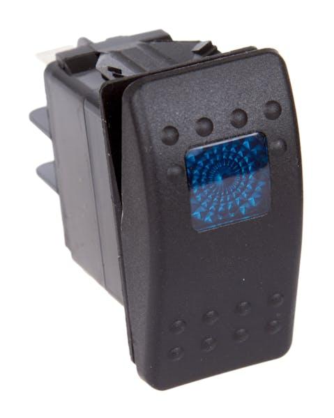 Daystar KU80011 Rocker Switch - Blue Light; 20 Amp; Single Pole