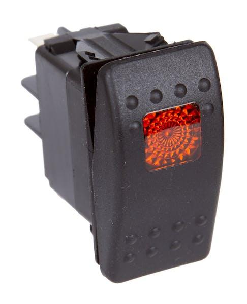 Daystar KU80013 Rocker Switch - Amber Light; 20 Amp; Single Pole