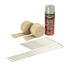 Design Engineering, Inc. 010331 Motorcycle Exhaust Wrap Kit (Tan wrap w/Aluminum HT Silicone Coating)