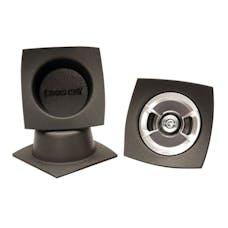 "Design Engineering, Inc. 050320 Speaker Baffles - 5.25"" Round (6-1/2""w x 6-1/2""h x 4""d) (Pair)"
