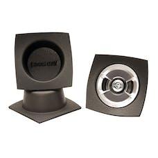 "Design Engineering, Inc. 050321 Speaker Baffles - 5.25"" Round Slim (6-1/2""w x 6-1/2""h x 2-1/2""d) (Pair)"