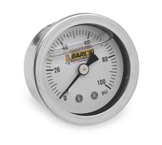 Earl's Performance Plumbing 100187ERL OIL FILLED 100 PSI PRESS. GAUGE