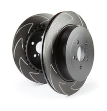 EBC Brakes BSD1111 BSD rotors V pattern improves heat dispersion and pads run cooler over OE style.