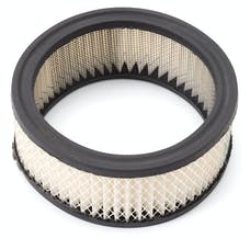"Edelbrock 1219 Replacement Paper Air Filter for Elite Series 6-3/8"" Round Air Cleaners"