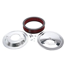 "Edelbrock 1224 Pro-Flo Chrome 14"" Round Air Cleaner with 3"" Cotton Element (Deep Flange)"