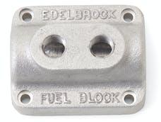 Edelbrock 1280 FUEL BLOCK DUAL CARB AS CAST
