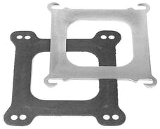 """Edelbrock 2732 Square-Bore to Spread-Bore Adapter Plate .100"""" thick for Edelbrock Manifolds"""