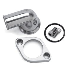 Edelbrock 4818 WATERNECK SBC/BBC 90 DEG TWO-PIECE CAST SWIVEL POLISHED