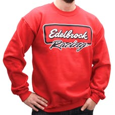 Edelbrock 9857 Sweater,Classic, Red, L