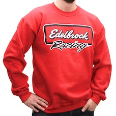 Edelbrock 9858 Sweater,Classic, Red, XL