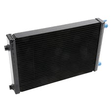 "Edelbrock 15409 HEAT EXCHANGER SC UNIVERSAL MEDIUM 17"" x 11"" x 2"" DUAL PASS BLACK"