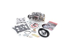 Edelbrock 14065 CARB PERF SERIES ELECTRIC CHOKE 600 CFM SQ. FLANGE QUADRAJET ADAPTER KIT SATIN