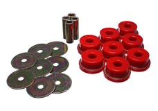 Energy Suspension 19.4102R Rear Subframe Bushing Set Red